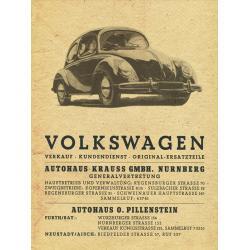 Volkswagen bogár hirdetes