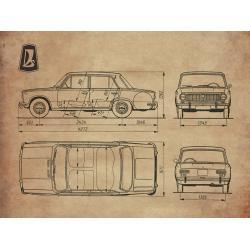 Lada 1200 blueprint