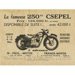 Csepel 250 francia hirdetés