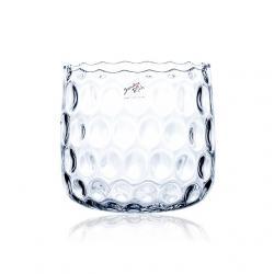 Váza üveg 16x18cm átlátszó