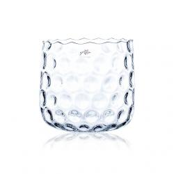 Váza üveg 20x22cm átlátszó