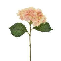 Selyemvirág hortenzia szál 46cm rózsaszín