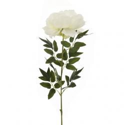 Selyemvirág pünkösdi rózsa 75cm fehér