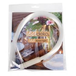 Fiberhair ledes vízálló csokor kiegészítő 60 cm meleg fehér