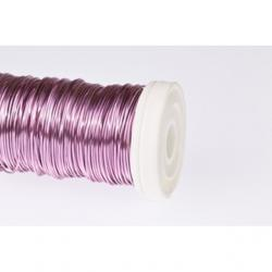 Dekordrót sima 0,3 mm rózsaszín 25 gr