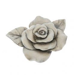 Kegyeleti rózsa poly 10x8,5x3,5cm szürke