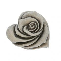 Kegyeleti rózsa poly 7,5x7,5x4cm szürke @