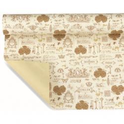 Csomagoló papír mintás 1x25 m ekrü