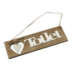 Ajtótábla Toilet barnás