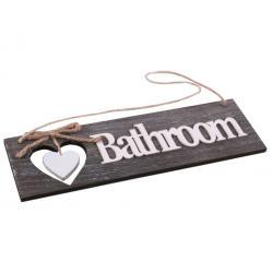Ajtótábla Bathroom szürkés