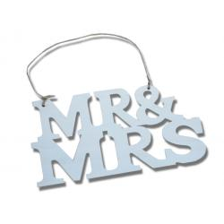 Ajtótábla Mr&Mrs fehér