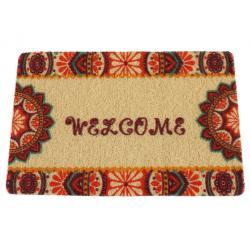 Beltéri lábtörlő Mix design S Welcome  színes virágos