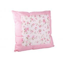 Rose Párna szegéllyel rózsaszínes
