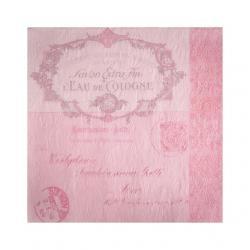 Papír Szalvéta 3 rétegû - Fiorentina Lettre rózsaszín 33x33cm rózsaszín S/16