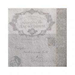 Papír Szalvéta 3 rétegû - Fiorentina Lettre szürkésbarna 33x33cm szürke S/16