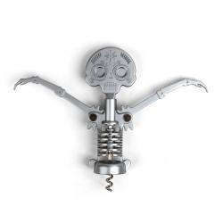 Dugóhúzó, halálfejes, ezüst