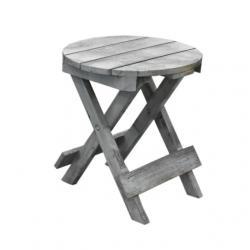 Kisasztal kerek fa 36x33cm natúr