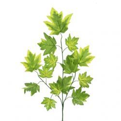 Őszi ág juharfa levéllel mûanyag 75 cm zöld S/6