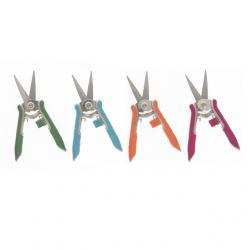 Metszőolló hegyes színes fém 15cm kék,zöld,narancs,magenta 4 féle
