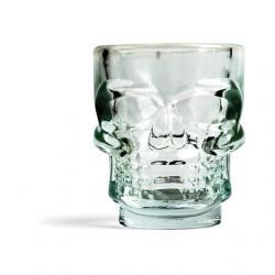Üveg feles pohár, csontváz koponya S/4