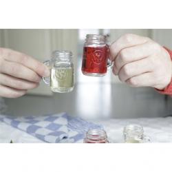 Üveg feles pohár, mini befőttesüveg 30ml S/4