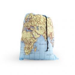 Utazó zsák, térképes