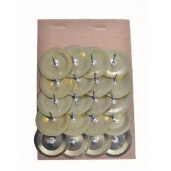 Gyertyatüske mini fém 3,5cm arany-ezüst 2 féle S/20