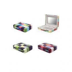 Ékszertartó doboz, hordozható, színes