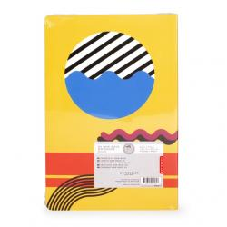 Jegyzetfüzet, absztrakt mintával, A5
