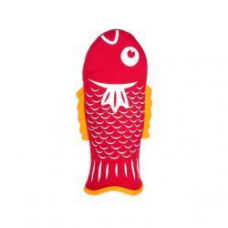 Hal formájú edényfogó kesztyû, piros