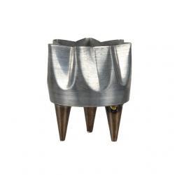Kaspó lábbal fém 9,5x11,5 cm szürke
