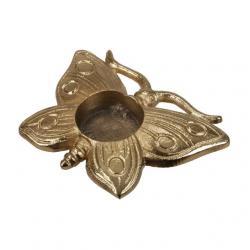 Pillangó mécsestartó alumínium 13x9cm arany