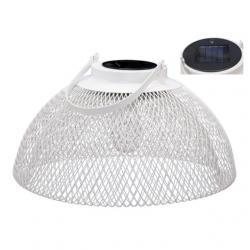 Lámpabúra solar fém 35x20 cm fehér