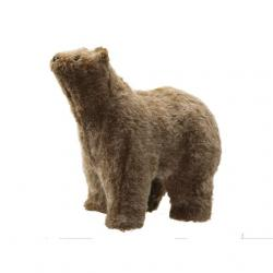 Medve álló textil 30x18x26 cm barna SSS