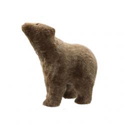 Medve álló textil 38x20x39 cm barna SSS