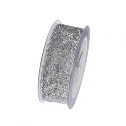 Szalag textil glitteres 40mmx8m ezüst SSS