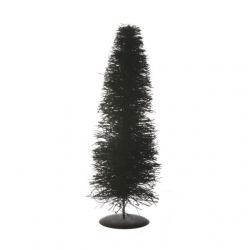 Stilizált fenyő fém talppal növényi rost 60cm natúr @