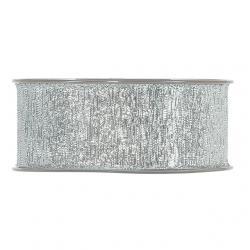Szalag textil 40mmx15m ezüst fényes