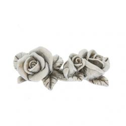 Kegyeleti rózsa poly 8x4,5x3,5cm szürke