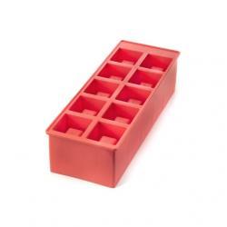 Jégkockatartó egymásbatehető, piros