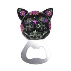 Macskás üvegnyitó poly 6x4x4.5cm lila metál