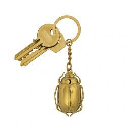 Kulcstartó bogár formájú fém arany