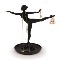 Ékszertartó állvány, ballerina, fekete