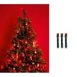 LED-es beltéri fényfüzér, piros, 50 LED beltéri