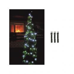 LED-es fényfüzér, 200LED, 8pr., hidegfehér, kültéri kültéri