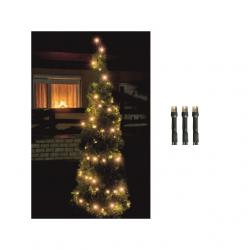 LED-es fényfüzér, 200LED, 8pr., melegfehér, kültéri kültéri