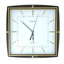 Timestar fekete-arany keretes falióra. 34x34cm. PW094