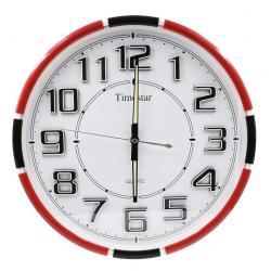 Timestar fekete, fehér, piros falióra. Átmérő: 36,5 cm. PW269